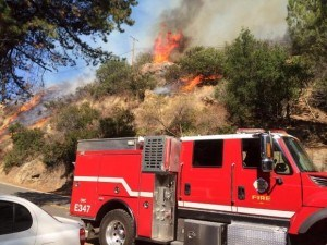 Silverado Fire. Photo: inciweb
