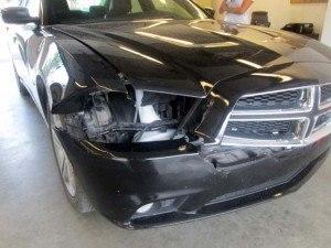 Deer hit damage. Photo: State Farm