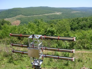 Portable radar interferometer will help researchers detect areas at risk for mudslides and rock falls following wildfires. Photo: University of Arkansas