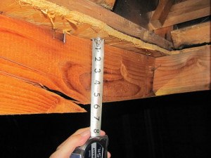 Rafter failure. Photo: EFI Global