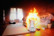 space heater fire