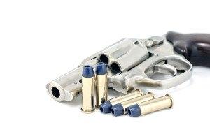 Revolver gun .38 mm and bullets
