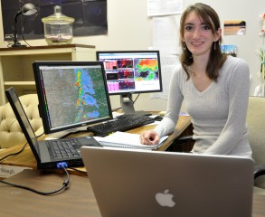 A jump in lightning strikes inside a thunderstorm might be a severe weather early warning, says research by Sarah Stough, a UAH graduate student in atmospheric science. Photo: UAH