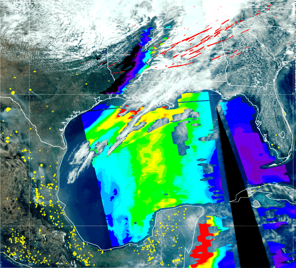 The satellite image for <a href=