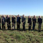 Gov. Dalrymple, NDDOT Director Grant Levi and Watford City Mayor Brent Sanford join other state and local officials in breaking ground on the U.S. 85 Watford City Bypass, which will re-route Highway 85 traffic onto a new roadway southwest of Watford City. Photo: North Dakota Office of the Governor
