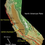 San Andreas Fault runs virtually the entire length of California. U.S. Geological Survey
