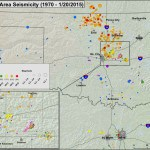 Oklahoma Seismicity Map - 1970 to January 20, 2015. Image: USGS