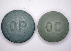 An abuse-deterrent formulation of the OxyContin (left), introduced in 2010. Photo: U.S. Drug Enforcement Administration