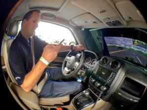 Reality Rides virtual distracted driving simulator. Photo credit: Brendan Ericson