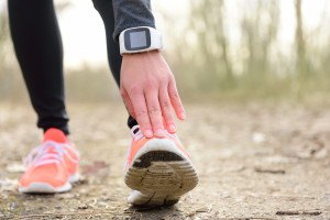 Wearable device on runner
