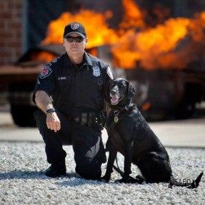 State Farm Arson Dog Teams Recognized by USFA for Arson Awareness Week May 3-9 (PRNewsFoto/State Farm)