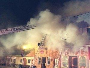 Fire damages Utica, Ill., businesses. Photo: Rainbow International