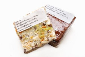 Brownie and 7-Layer Bar with green butter -- medical cannabis edibles