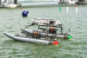 Prototype of an unmanned marine vehicle for bridge inspections developed by researchers at Florida Atlantic University. Photo: FAU