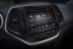 Jeep Cherokee infotainment system. Photo: FCA US LLC