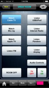 Crestron home control app