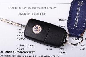 Volkswagen emissions test certificate