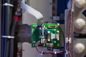 The digital controller board could be the target of cyber attacks. Attackers would attempt to take control of the digital controller or trick it into thinking it needs to react to falsified signals. Photo: Matt Reynolds/University of Arkansas
