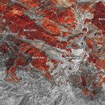 NASA Earth Observatory images show burn scars from the Valley fire in California. The image is by Joshua Stevens, using Landsat data from the U.S. Geological Survey. (NASA)