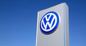 Sign Volkswagen Against Blue Sky