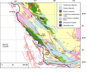 usgs map of thr Hosgri fault