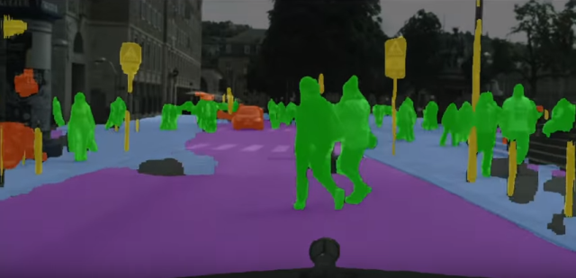 NVIDIA DriveNet is able to accurately identify and paint the world around a car, pixel by pixel.
