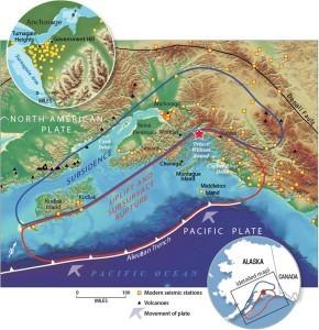1964 Great Alaska Earthquake. Image by USGS
