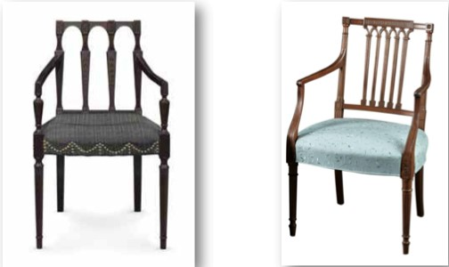 Left: photo credit: CHRISTIE'S Right: photo credit: G. Sergeant Antiques, Woodbury, CT