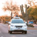Google self-driving Lexus RX450h. Photo: Google