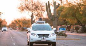 Google self-driving Lexus RX450h. Photo: Google