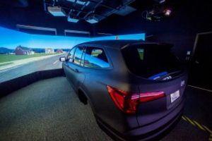UAB SUV driving simulator. Photo: UAB
