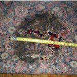 Damaged rug. Photo: Enservio