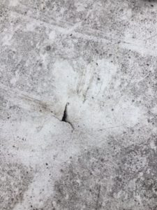 Hail damage, punctured roof. Photo: Simon Roofing