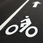Bicycle Lane On A New Road
