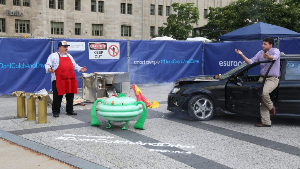 Esurance Stages Car Crash In Chicago To Emphasize Don't