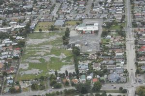 Image depicts impact of liquefaction on Christchurch after Feb. 22 2011 earthquake. Photo: New Zealand Defence Force