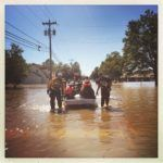 USAR teams evacuating survivors from a North Carolina neighborhood in the aftermath of Hurricane Matthew.  Photo by Jocelyn Augustino - Oct 10, 2016
