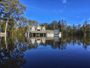 Nichols, SC, USA-- Flood waters surround a business in Nichols, SC following Hurricane Matthew. FEMA Photo by Dominick Del Vecchio - Oct 12, 2016