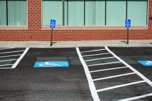 handicap sign in parking area for design