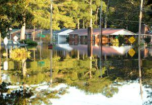 Floodwaters in Lumberton, N.C., after Hurricane Matthew.  Photo: FEMA/Jocelyn Augustino
