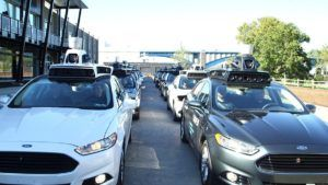 Uber self driving cars. Photo: Office of the Arizona Governor