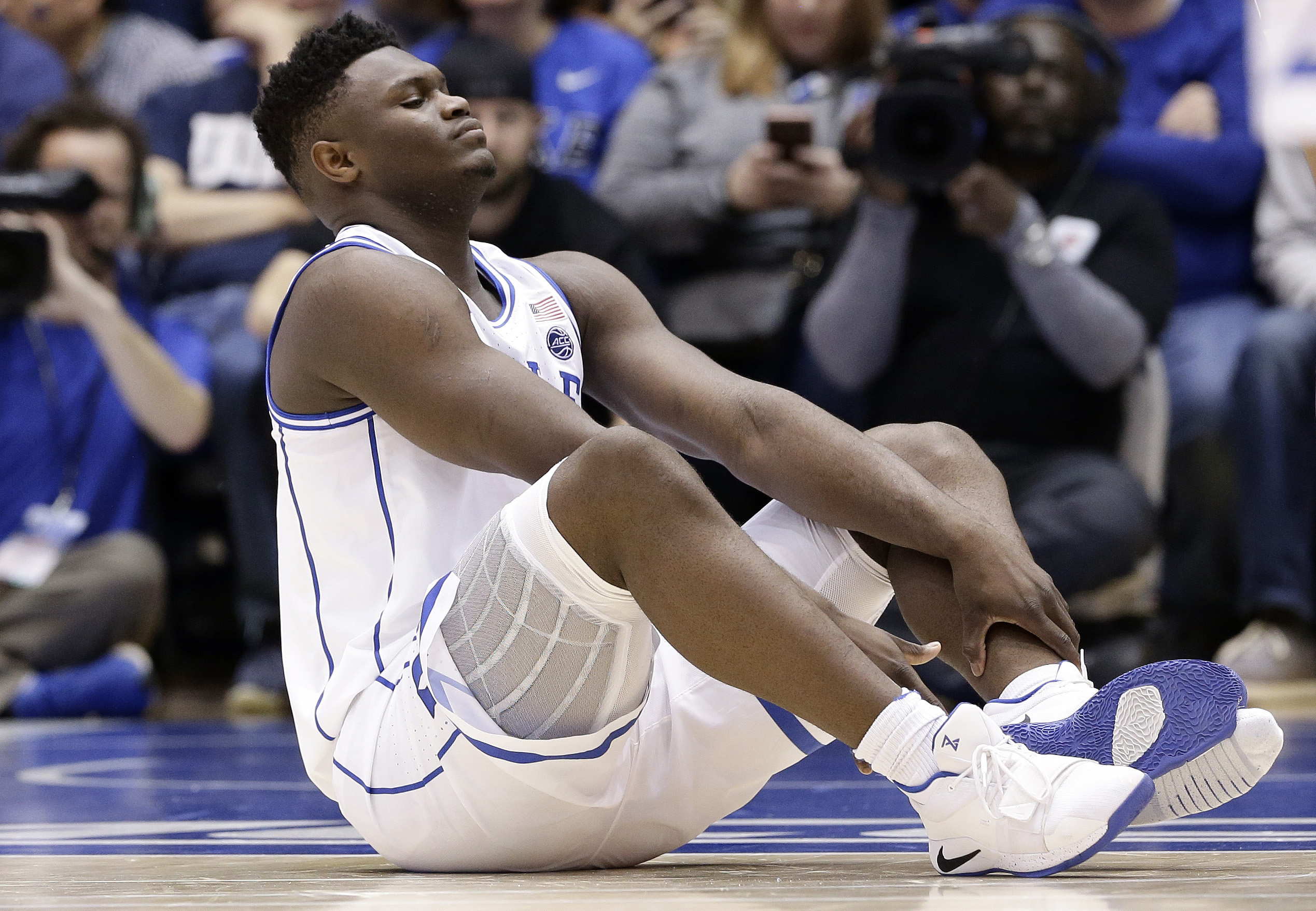 College Basketball Star's Busted Shoe